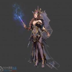 不同风格科幻战士角色美宣高清3D静帧原画集